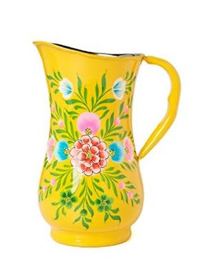 Made in India, the Millifiori Jug is made of iron, with a floral design painted in enamel. $76 from ShopBop.