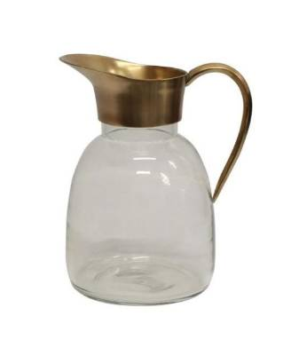 Made of antique brass and glass, the Pablo jug is a great combination of utility and style. $115 from French Country.
