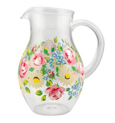 The Cath Kidston Daisies & Roses jug is ideal for a picnic, it's plastic so is safe to use around the kids. $25.
