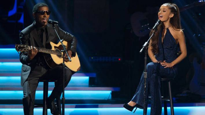 "Kenneth ""Babyface"" Edmonds, seen here performing with Ariana Grande in 2015."