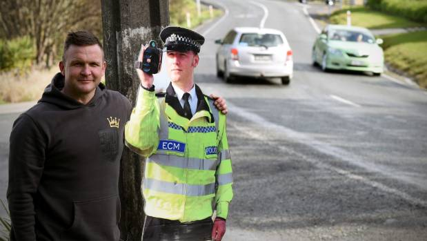 Leigh Sheehan with his partner Policeman Pete.