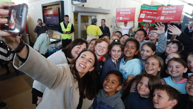 Labour Party leader Jacinda Ardern started her day arriving in Nelson to a warm welcome, song and dance from local ...