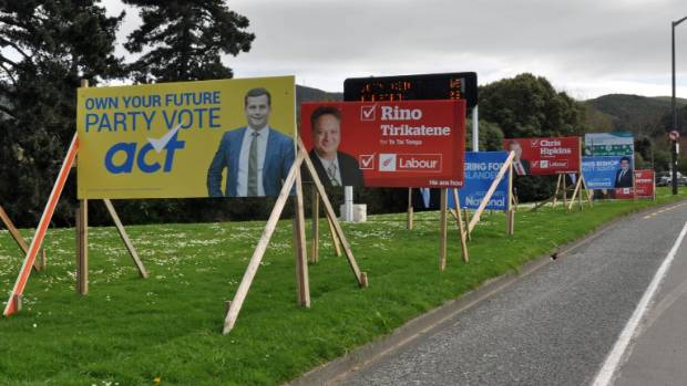 Hutt South is covered in hoardings as candidates fight for attention in a heated campaign.