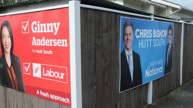 The core battle in Hutt South is between Ginny Andersen for Labour, and Chris Bishop for National.