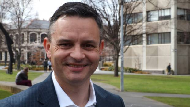 Green Party leader James Shaw at the University of Otago.