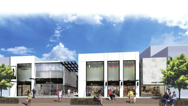 An artist's impression of the Cashel St frontage of the Guthrey Centre rebuild, which is about to be built next to ...