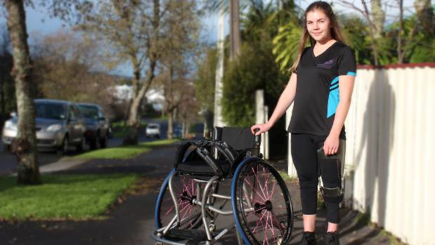 Daisy Eaglesome doesn't require a wheelchair in day-to-day life but loves wheelchair basketball.
