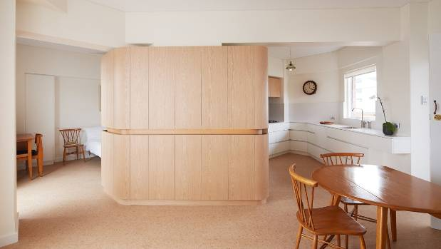 This remodelled flat is just 45 square metres, but the space has been maximised by the introduction of a central ...