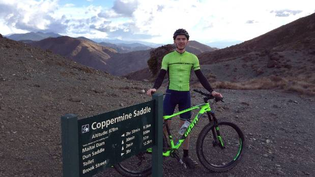 Josh Aldridge, new trail manager at Nelson Tasman Cycle Trails Trust, conquers Dun Mountain.