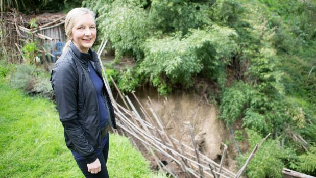 Campbell is optimistic after Hamilton City Council agreed to repair a slip in her garden caused by a faulty storm water pipe.