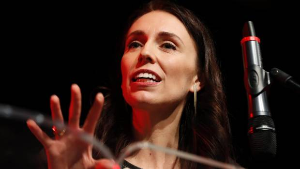 Labour Party leader Jacinda Ardern outlines her party's polices at a Grey Power-organised meeting in Nelson.