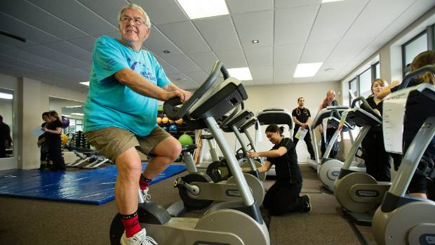 Len Morland working on cardio at U-Kinetics in 2013.