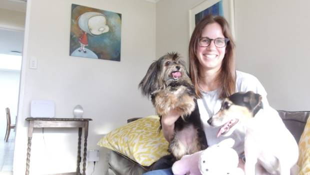 It's not goodbye forever, but Kim Girbin's dogs will no longer be living with her when she fights terminal colon cancer.