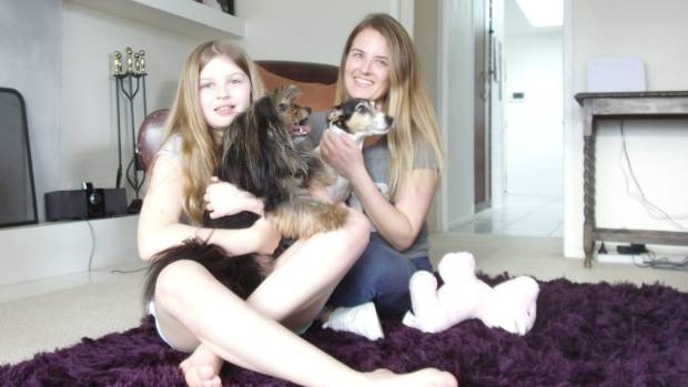 Abi, 10, and Misti Landtroop, have two new members of the family - Bella and TJ.