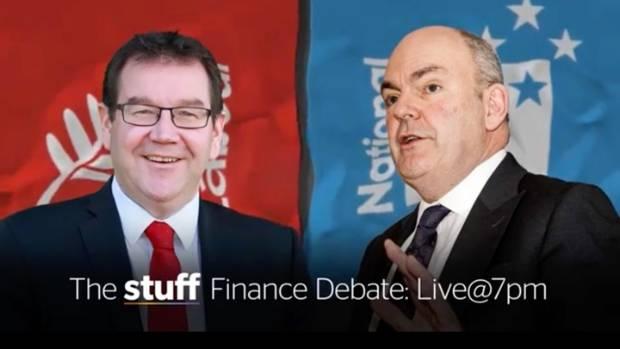 Grant Robertson (left) will go head to head with Steven Joyce in Stuff's finance debate.
