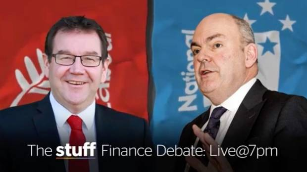 Grant Robertson (left) goes head to head with Steven Joyce in Stuff's finance debate.
