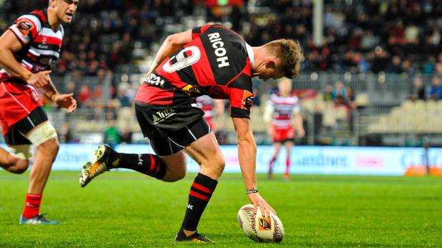 Canterbury halfback Mitchell Drummond scored four tries against Counties Manukau on Wednesday night.
