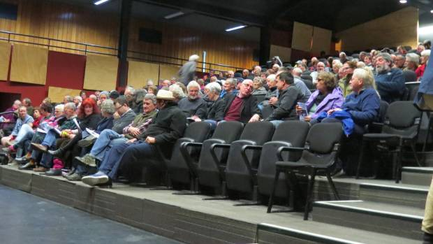 A crowd of almost 200 attended the meeting with the Buller District Council in Westport on Wednesday.
