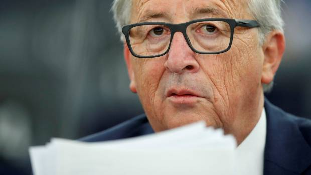 "European Commission President Jean-Claude Juncker: ""And today, we are proposing to open trade negotiations with ..."