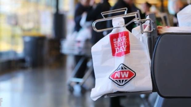 New World supermarkets will ban the bag by the end of next year.
