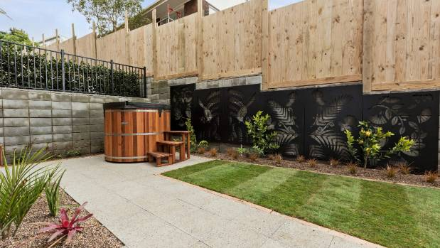 Andy and Nate won the garden reveal last night, with their stunning black steel wall panels with punched out patters of ...
