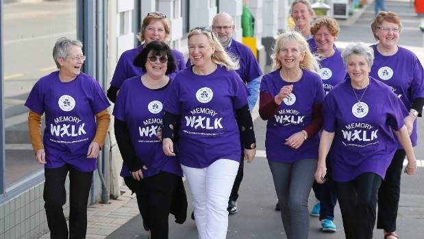 Preparing for Saturday's Alzheimers South Canterbury Memory Walk are, from left, Sally Marsh, Barbara Fleming, Helen ...