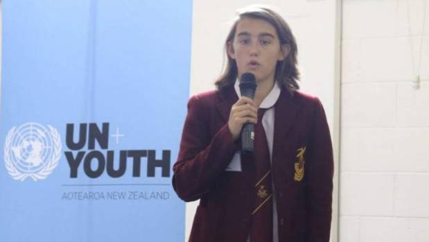 Despite representing New Zealand at a recent UN Youth summit, 15-year-old Azaria Howell won't get to have her say in the ...
