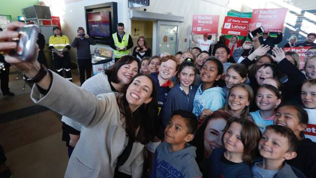 Labour leader Jacinda Ardern meets Nelson Central School students - but will her votes be buoyed by selfies alone?