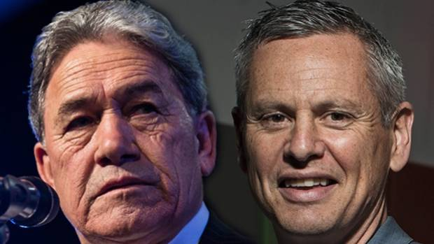 Trading blows: Winston Peters goes head-to-head with Guyon Espiner.