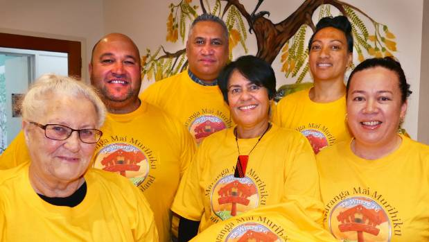 Coming together to fight suicide are, front from left, Dawn Wybrow, Hani Light and Leoma Tawaroa and back from left, ...