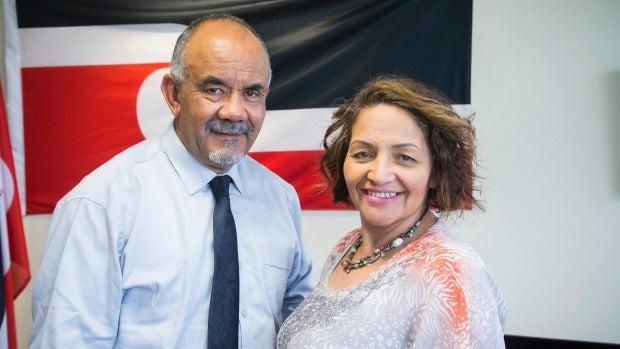 Maori Party co-leaders Te Ururoa Flavell and Marama Fox.