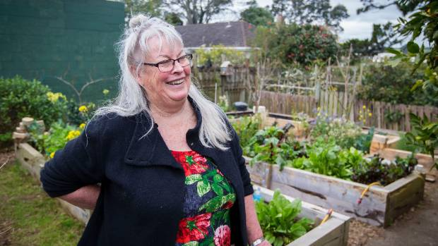 Tricia Thompson shares a laugh in the garden – many will know her as a midwife, and now a gardener.