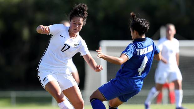 Under-20 international Malia Steinmetz is one of five uncapped players in the Football Ferns squad.