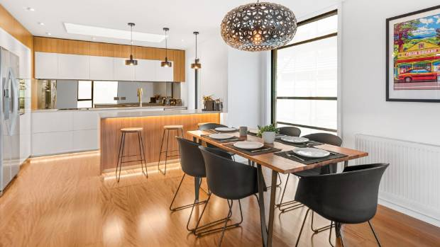 Ling and Zing's open-plan kitchen and living area looks a winner. The timber floors are stunning.