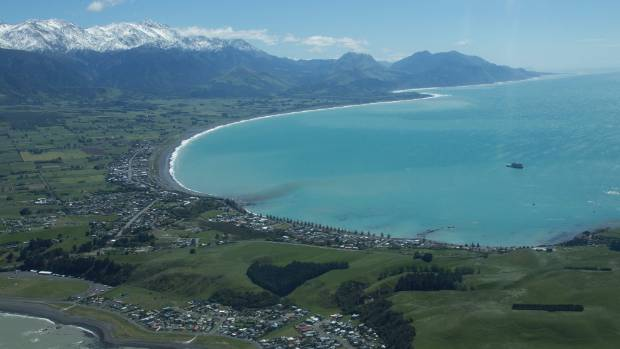 The Kaikōura Peninsula, with the ranges in the background.