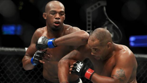 Jon Jones during his win over Daniel Cormier in July which has been changed to a no-contest