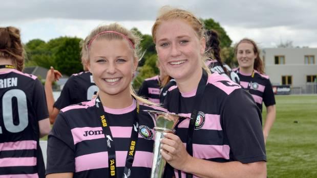 CJ Bott (right) won the National Women's League with Northern in 2015, alongside teammate Chloe Wilson (left).