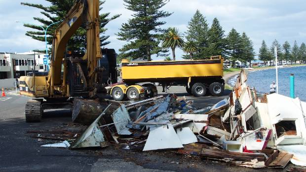 The boat was destroyed and the owner can expect a bill for the work the regional council performed.