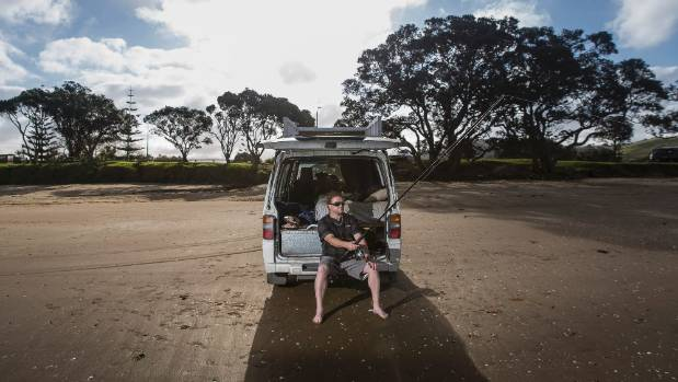 Luke O'Neill at Hadfield's Beach, north of Auckland, says there's no way to go but Green.