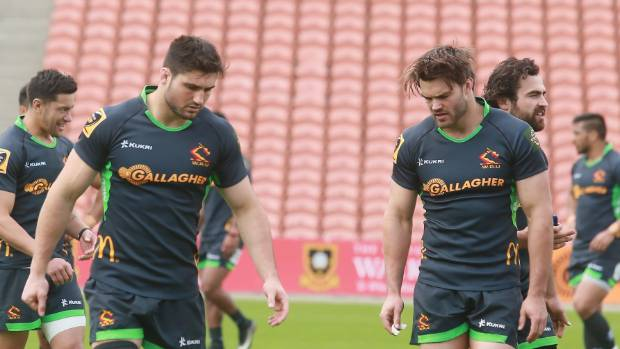 The Jacobson brothers at Waikato training.