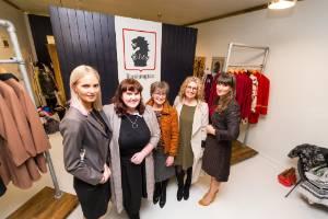 Sophie Braggins, Louise Hunt, Lorraine Webber, Belinda Hunt and Rebecca Johnson attended the support event at ...