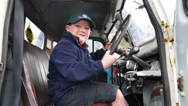 The cab of the truck in Jack Stiles' playground is great for hide-and-seek, the youngster says.