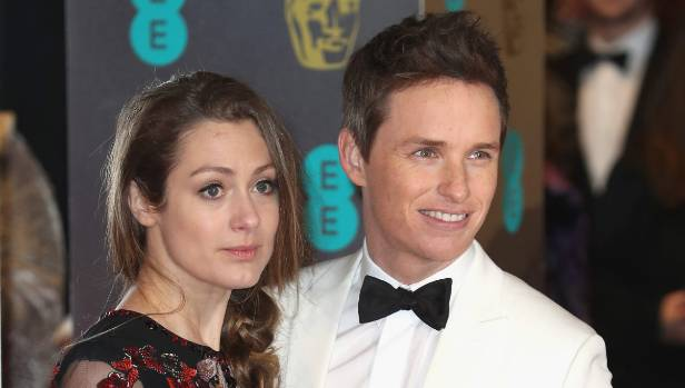 Eddie Redmayne with his wife, Hannah Bagshawe, at the British Academy Film Awards in London, in February.