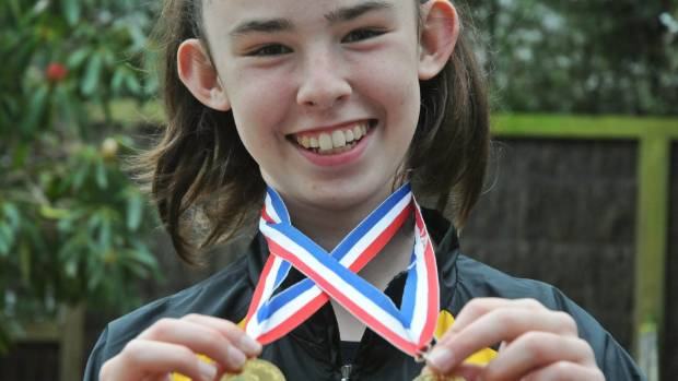 Wellingtonian Olivia Bareta-Rodgers, 13, is excelling in wrestling with the Tawa Tigers, recently winning two gold ...
