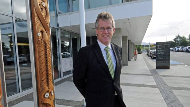 Kapiti Coast District Council chief executive Pat Dougherty outside the council headquarters.