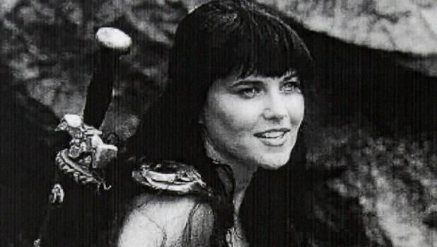 Lucy Lawless as Xena: Warrior Princess.
