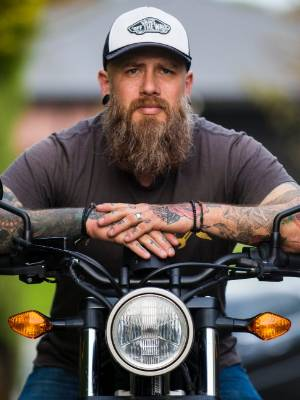 Jonty Penney from Timaru is participating in the Distinguished Gentleman's Ride to raise funds for men,s health.