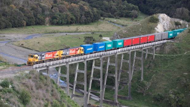 Hundreds turned up to watch the first freight train since the November earthquake take to the track on September 15. The ...