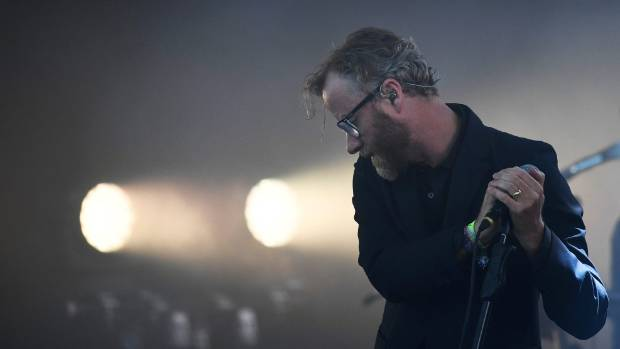 The National perform on the Pyramid Stage at Worthy Farm in Somerset during the Glastonbury Festival in Britain on June ...