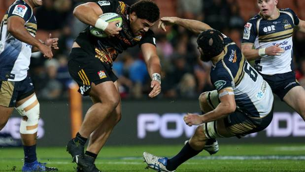 Waikato prop Atu Moli, pictured here playing for the Chiefs, is a brilliant ball carrier.